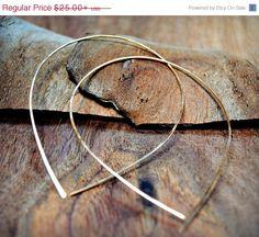 Raindrop Gold Hoop Earrings