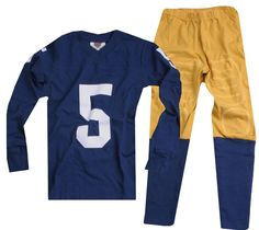 """Wes and Willy """"Number 5"""" Football Pajamas"""