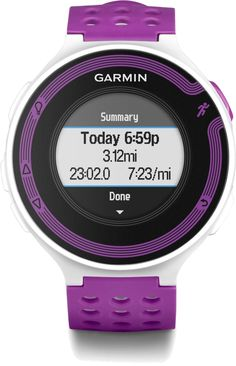 Get essential running data like your distance and pace with the Garmin Forerunner 220 GPS fitness monitor.