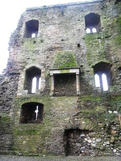 Ferns Castle, Ireland, thirteenth century.  Try to imagine how this would have looked in its heyday...