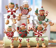 esto no puede ser más adorable!!!! hombrecitos de jengibre por toda la cocina!!!