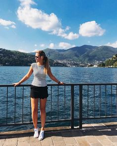 Ready for work while thinking about a lovely time in Italy  #tb #como #italy #girls #sunday #love #sunshine #instatravel #isntagood #igers #legs #sun #tan #blonde #converse #chalisamonza