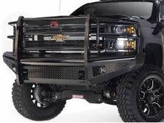 Fab Fours Black Steel Front Bumper