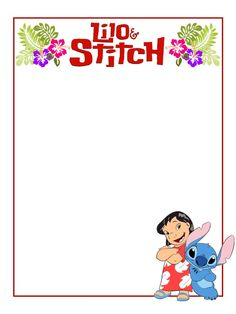 "Lilo and Stitch - Project Life Journal Card - Scrapbooking ~~~~~~~~~ Size: 3x4"" @ 300 dpi. This card is **Personal use only - NOT for sale/resale** Logo/clipart belong to Disney. *** Click through to photobucket for more versions of this card ***"