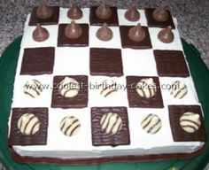 Checker Board Decorated Cake  http://www.coolest-birthday-cakes.com/decorated-cake.html