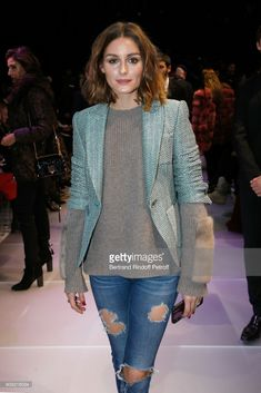 Olivia Palermo attends the Giorgio Armani Prive Haute Couture Spring Summer 2018 show as part of Paris Fashion Week on January 23, 2018 in Paris, France.