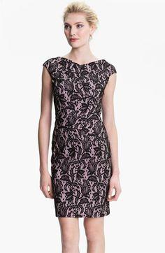 Kay Unger V-Back Lace Jacquard Sheath Dress available at #Nordstrom