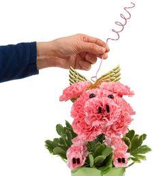 How to Arrange: 1-800-Flowers Pig