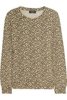 A.P.C.  Knitted leopard-print top