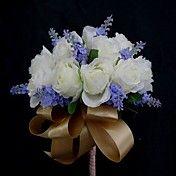 Beautiful Satin Round Wedding Bouquet – USD $ 14.99