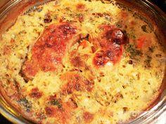 rizses csirke egytál
