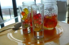 Tipsy Gummy Bears. these little guys are so good and soo easy to make! we have the step by step for these alcoholic candies