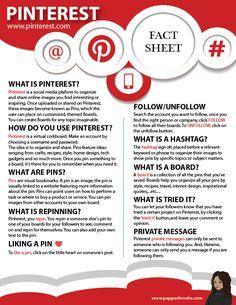 Pinterest Information Sheet for Beginners #pinterest #beginner #socialmedia #PepperBrooks
