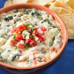 Mexican Spinach Dip...where Spinach dip meets Queso!