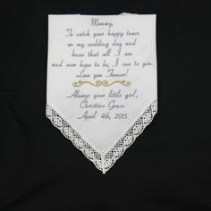 Mother of the Bride Handkerchiefs Embroidered by NapaEmbroidery