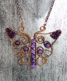 Wire Wrapped Jewelry Handmade Butterfly by TrulyFreeCreations
