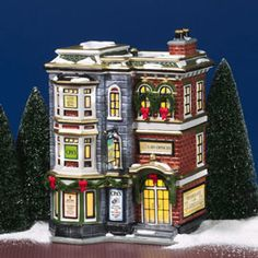 """Department 56: Products - """"Main Street Office Building"""" - View Lighted Buildings"""