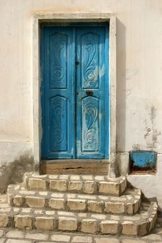 Blue Door, Sousse, Tunisia, North Africa - photo by curreyuk on Flickr