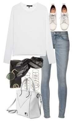 """""""Untitled #8582"""" by nikka-phillips ❤ liked on Polyvore featuring rag & bone, Forever 21, H&M, Ray-Ban and DKNY"""