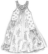 line drawing of summer dress