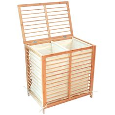 Toilet Tree Products Deluxe Bamboo Hamper