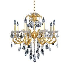 Praetorius 8 Light Crystal Chandelier Finish: French Gold / 24K, Crystal: Firenze Clear - http://chandelierspot.com/praetorius-8-light-crystal-chandelier-finish-french-gold-24k-crystal-firenze-clear-589950843/
