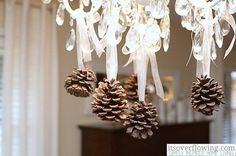 Woodsy Lighting | Pine Cone Decorating Ideas For The Holidays