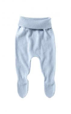 I am forever putting socks back on baby. Leggings are the best solution to this during winter - slip these on under some tracksuit pants and no more cold tootsies!  Knitted Legging - Purebaby