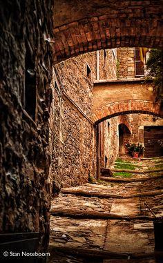 Street in Cortona, Tuscany, Italy