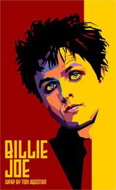 Billie Joe Wedhas Pop Art Portrait By Toni Agustian