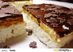 Kokosky na plech recept - TopRecepty.cz Sweet Recipes, Cake Recipes, Eastern European Recipes, Sweet Cooking, Czech Recipes, Sweet Cakes, Easter Recipes, No Bake Cake, Food Inspiration