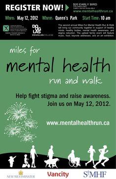 REGISTRATION is now open! http://mentalhealthrun.ca/