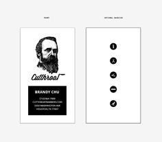 Business Card Design for Cutthroat Barber Shop in Houston, TX
