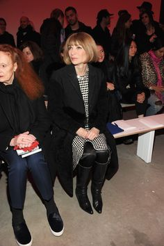 Anna Wintour attends the Proenza Schouler @ Mercedes-Benz Fashion Week Fall 2014 on Feb. 12, 2014 NYFW.  Photo by Ben Gabbe/Getty Images