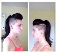 I finally grew a pair and got my hair cut the way I've wanted for the past 9 months. Undercut on both sides (so technically a mohawk). I was pleasantly surprised at the styling versatility. Thank you Re for doing a fabulous job!