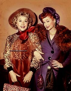 Vivian Vance and Lucille Ball, best friends for life.