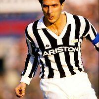 01.12.1985, Stadio Comunale, Torino, Italia. Serie A, Juventus v Fiorentina. .Gaetano Scirea - Juventus.©JUHA TAMMINEN