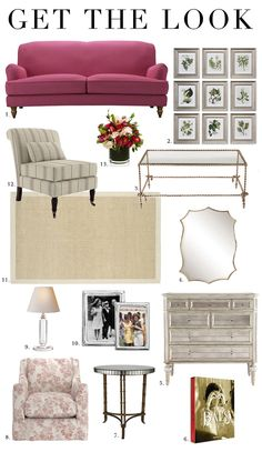 """Lee Radziwill - 1. The Snowdrop Sofa in Raspberry Brushed Linen 