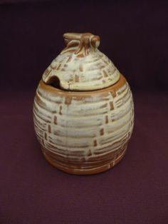 Stunning Highly Collectible Vintage Frankoma Bee Hive Honey Pot 803 Pottery Mint | eBay