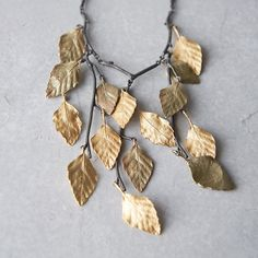 Autumn Birch Bib Necklace in Gifts Gifts For Her at Terrain