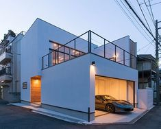 【Mod】el | 注文住宅なら建築設計事務所 フリーダムアーキテクツデザイン Minimalist Architecture, Facade Architecture, Carport Designs, Container House Design, Garage House, Modern House Design, Home Interior Design, Building A House, House Plans