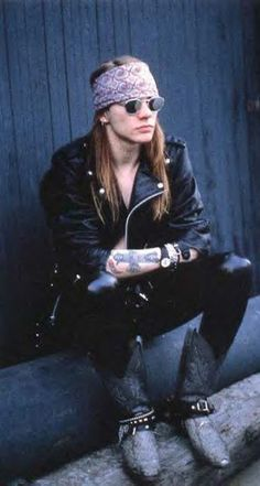 Axl Rose, late '80s   waiting to say hi to you at Coachella
