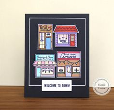 Created by design team member Kristie Larsen with our Around Town set (and Baby Town and Coffee Town sets)
