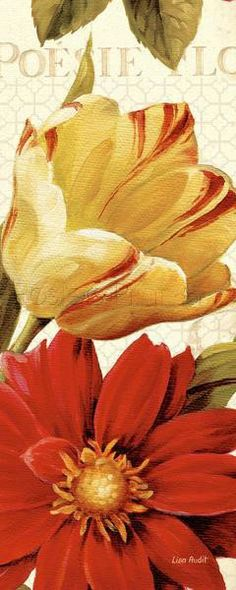 Poesie Florale Panel II Art Print Poster by Lisa Audit Online On Sale at Wall Art Store – Posters-Print.com