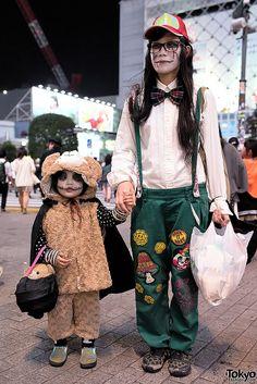 Halloween 2014, Shibuya, Tokyo. tons more photos here: https://www.flickr.com/photos/tokyofashion/sets/72157648605936290/  .... | 31 October 2014 | #couples #Fashion #Harajuku (原宿) #Shibuya (渋谷) #Tokyo (東京) #Japan (日本)