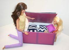 Barbie ágyneműtartós ágy, Chelsea ágya/ Barbie bed, Chelsea bed, Barbie furnitures