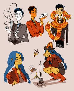 cy-lindric: More of my witch family ! - The Cylinder Character Design Animation, Character Design References, Character Art, Pretty Art, Cute Art, Poses, Cool Drawings, Skull Drawings, Drawing Faces