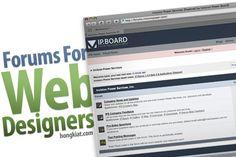18 Forums Web Designers Shouldn't Missed