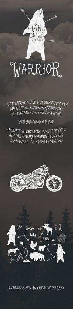 Warrior Typeface on Behance by Ian Barnard