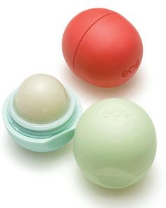 EOS lip balm.  I will never use a different kind again!  Love these amazing little spheres of awesomeness!